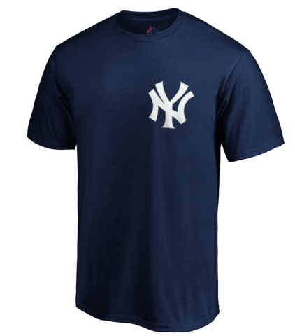 New York Yankees MLB Majestic - Official Wordmark T-Shirt