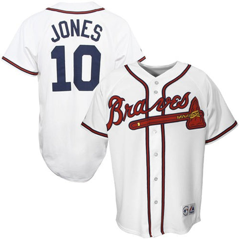 Atlanta Braves MLB Chipper Jones Majestic - Jersey