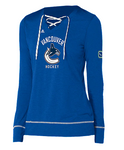 Vancouver Canucks NHL adidas - Women's Wordmark Hockey Stitch Top