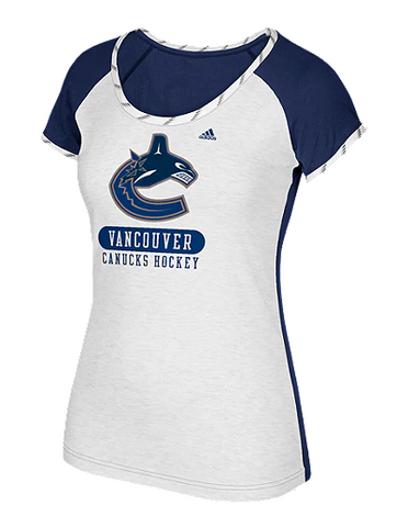 Vancouver Canucks NHL adidas - Women's Skate Lace T Shirt