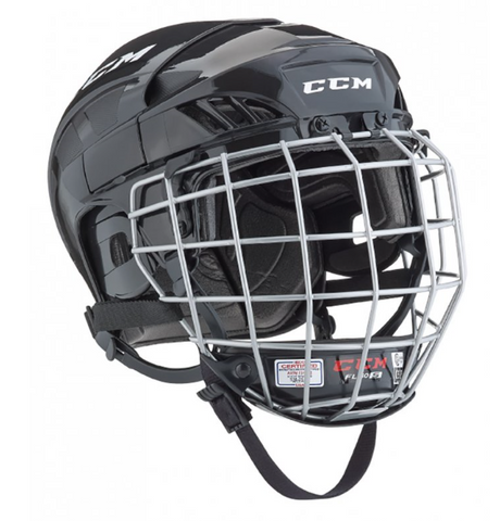 CCM FL40 BLACK HOCKEY HELMET COMBO
