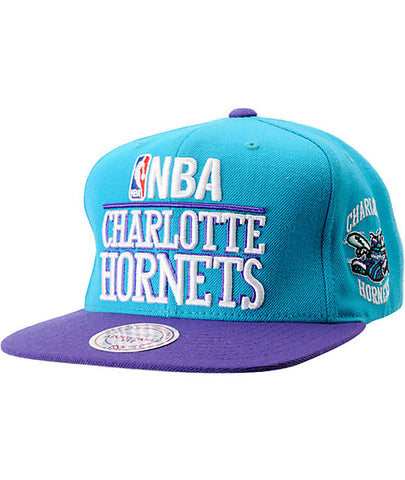 Charlotte Hornets NBA Mitchell & Ness - Media Day Snapback Cap