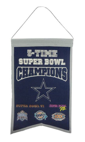 Dallas Cowboys NFL -  14x22 inch Champions Banner