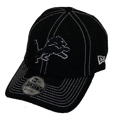 Detroit Lions NFL New Era - League Black 9FORTY Cap