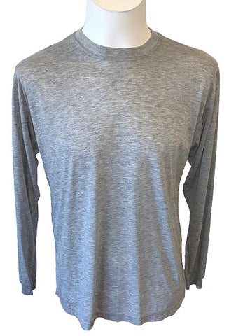 Firstar Super Soft Cotton Feel – Heathered Grey Long Sleeve Top
