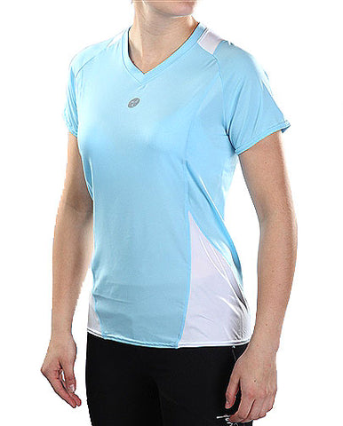 Firstar FLOW Womens V-Neck Short Sleeve Tee - Carolina