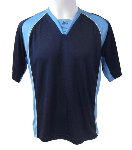 Soccer-Volleyball Jersey (Navy-Light Blue-White)