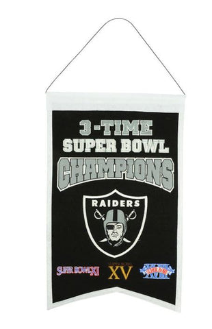Raiders NFL 14x22 inch Champions Banner
