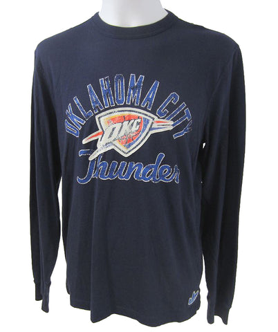 Oklahoma City Thunder NBA adidas - Long Sleeve Applique Logo Tee