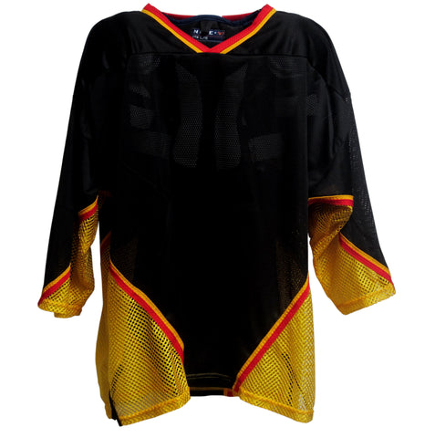 AK Inline Hockey Jersey - Black-Gold-Red