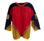AK Inline Hockey Jersey - Red-Navy-Gold-White