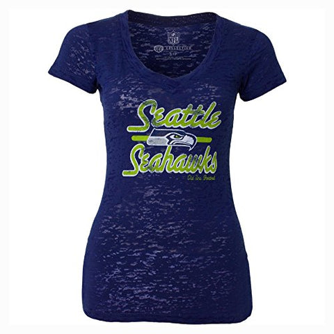 Seattle Seahawks NFL Old Time Football - Women's Signal T-Shirt