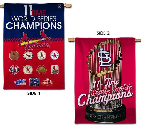 St. Louis Cardinals 11 Time World Series Champion 2-Sided House Banner