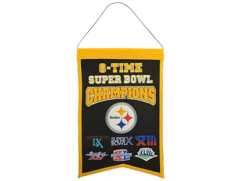 Pittsburgh Steelers NFL 14x22 inch Champions Banner