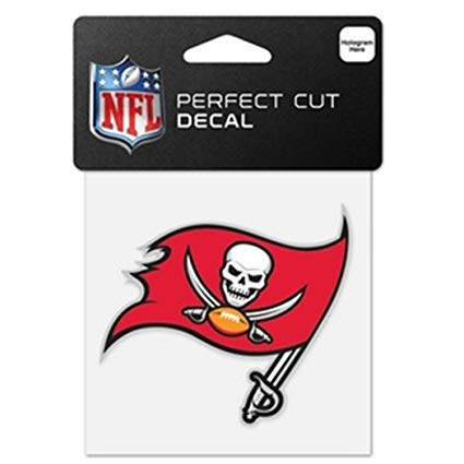 Tampa Bay Buccaneers NFL Die Cut Colour Decal 8in X 8 inch