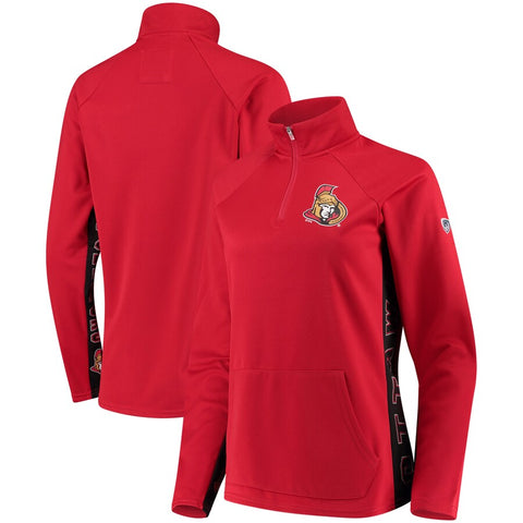 Ottawa Senators NHL Hands High - Women's MVP ¼ Zip  Pullover Jacket