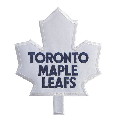 Toronto Maple Leafs - White Full Size Twill Applique Logo