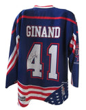 USA Game Worn Jersey - Blue #41 Ginand