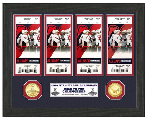 Washington Capitals Highland Mint 2018 NHL Champions Ticket Collection