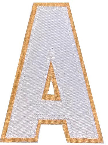 Assistant's Letter A - Two Colour White and Gold
