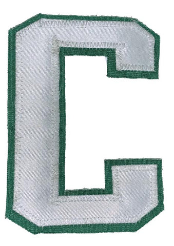 Captains Letter C - Two Colour White and Kelly Green