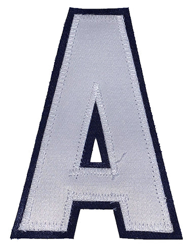 Assistant's Letter A - Two Colour White and Navy