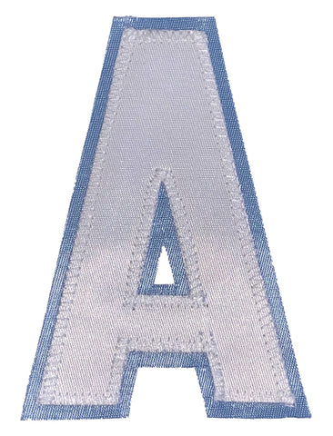 Assistant's Letter A - Two Colour White and Powder Blue