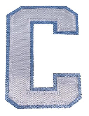 Captains Letter C - Two Colour White and Sky Blue