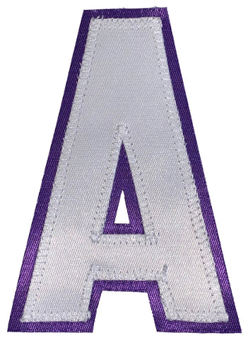 Assistant's Letter A - Two Colour White and Purple