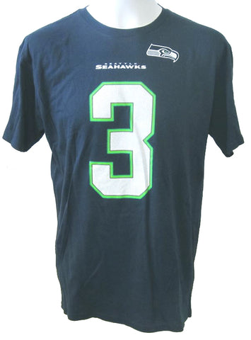 Seattle Seahawks NFL Russell Wilson NFL Apparel - Navy T-Shirt