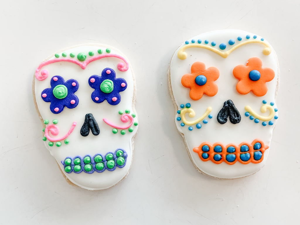 Halloween Skull Cookies - Individually Sold - Gourmet Cookies, Custom Shortbreads & Holiday Gifts | Dallas, TX