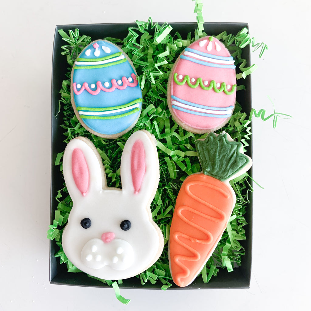 4-pc Bunny Basket Gift TIn