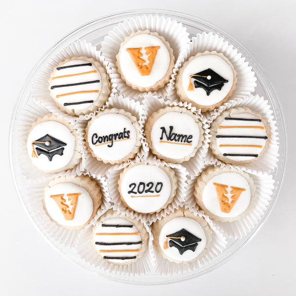 """Congrats"" Signature Stripes Cookie Gift Tin"