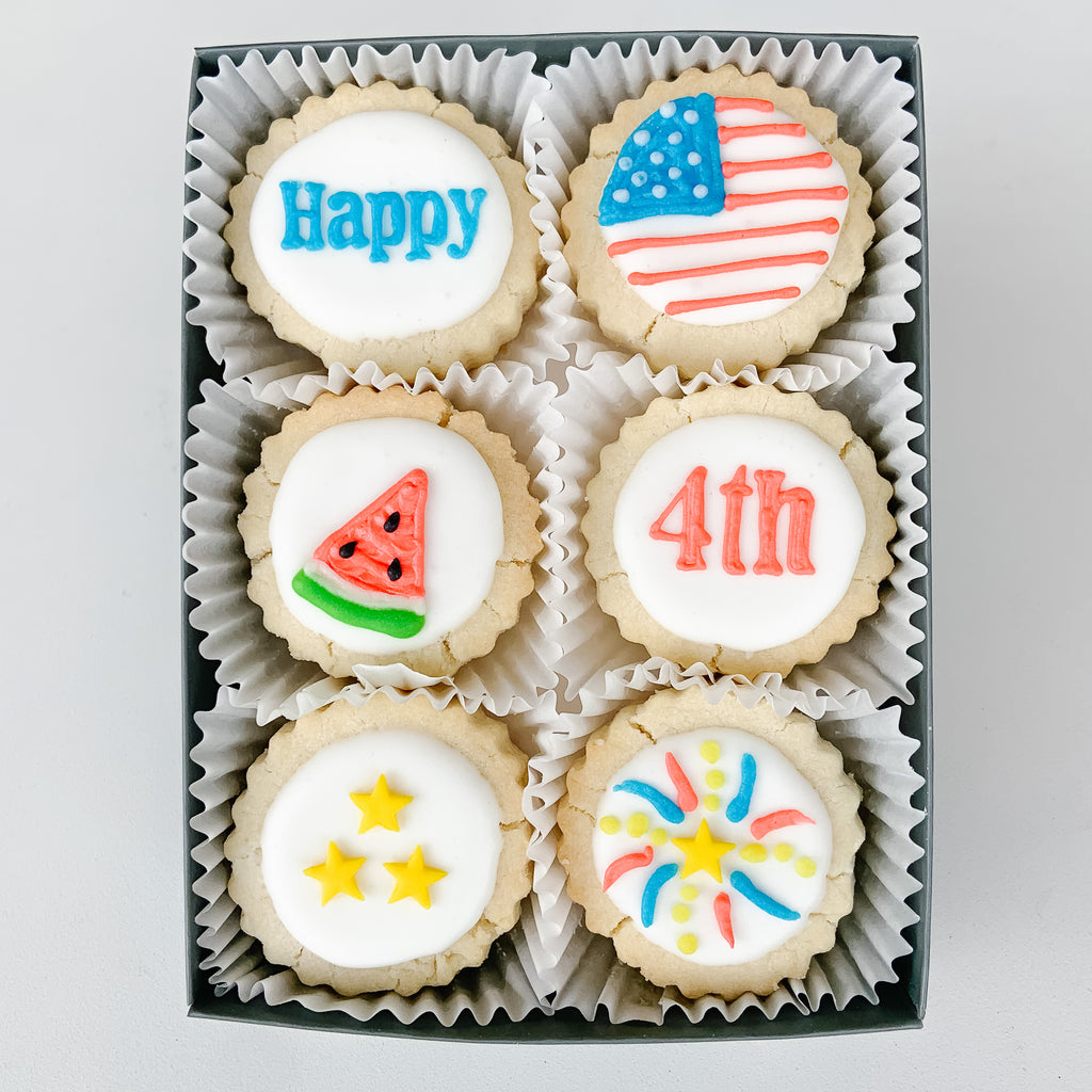 "6-piece ""Fourth of July"" Shortbread Cookies Gift Tin"
