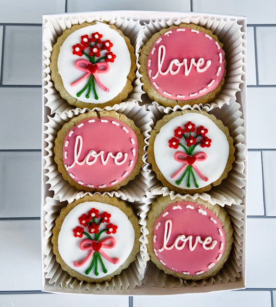 "6-piece ""Love Bouquet"" Shortbread Cookies Gift Tin"