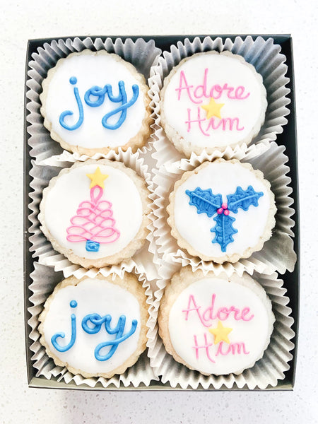Season of Joy Gift 6-pcTin - Gourmet Cookies, Custom Shortbreads & Holiday Gifts | Dallas, TX