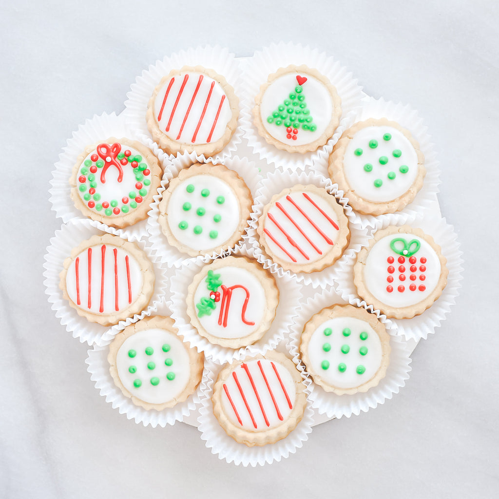 """Noel"" Christmas Shortbread Cookies Gift Tin - Gourmet Cookies, Custom Shortbreads & Holiday Gifts 