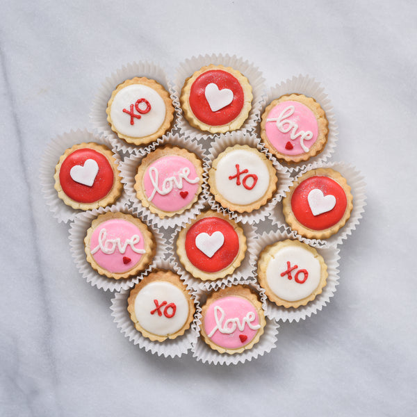 XO Valentine's Day Large Tin - Gourmet Cookies, Custom Shortbreads & Holiday Gifts | Dallas, TX
