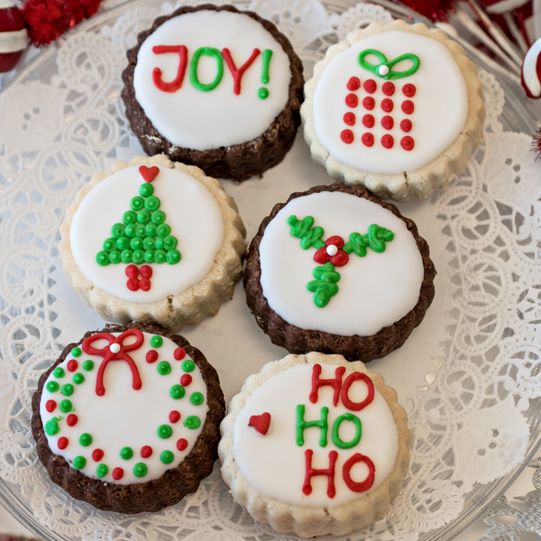 """Joy"" Gourmet Decorated Shortbread Cookies - Gourmet Cookies, Custom Shortbreads & Holiday Gifts 
