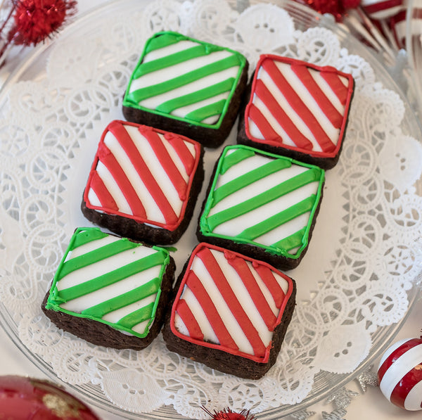 Festive Chocolate 6-piece Shortbread Box