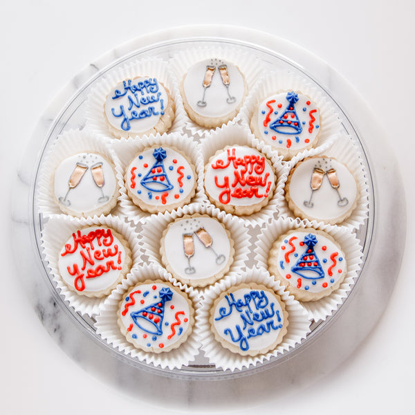 """New Year's Eve"" Shortbread Gift Tin - Gourmet Cookies, Custom Shortbreads & Holiday Gifts 