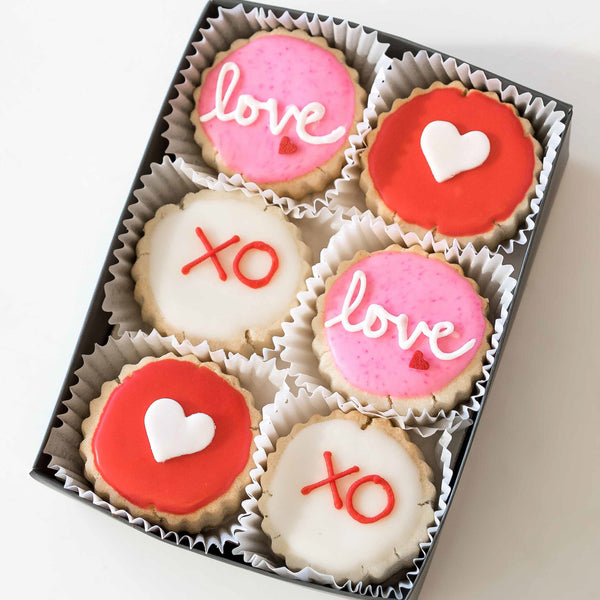 Love 6-piece Shortbreads - Gourmet Cookies, Custom Shortbreads & Holiday Gifts | Dallas, TX