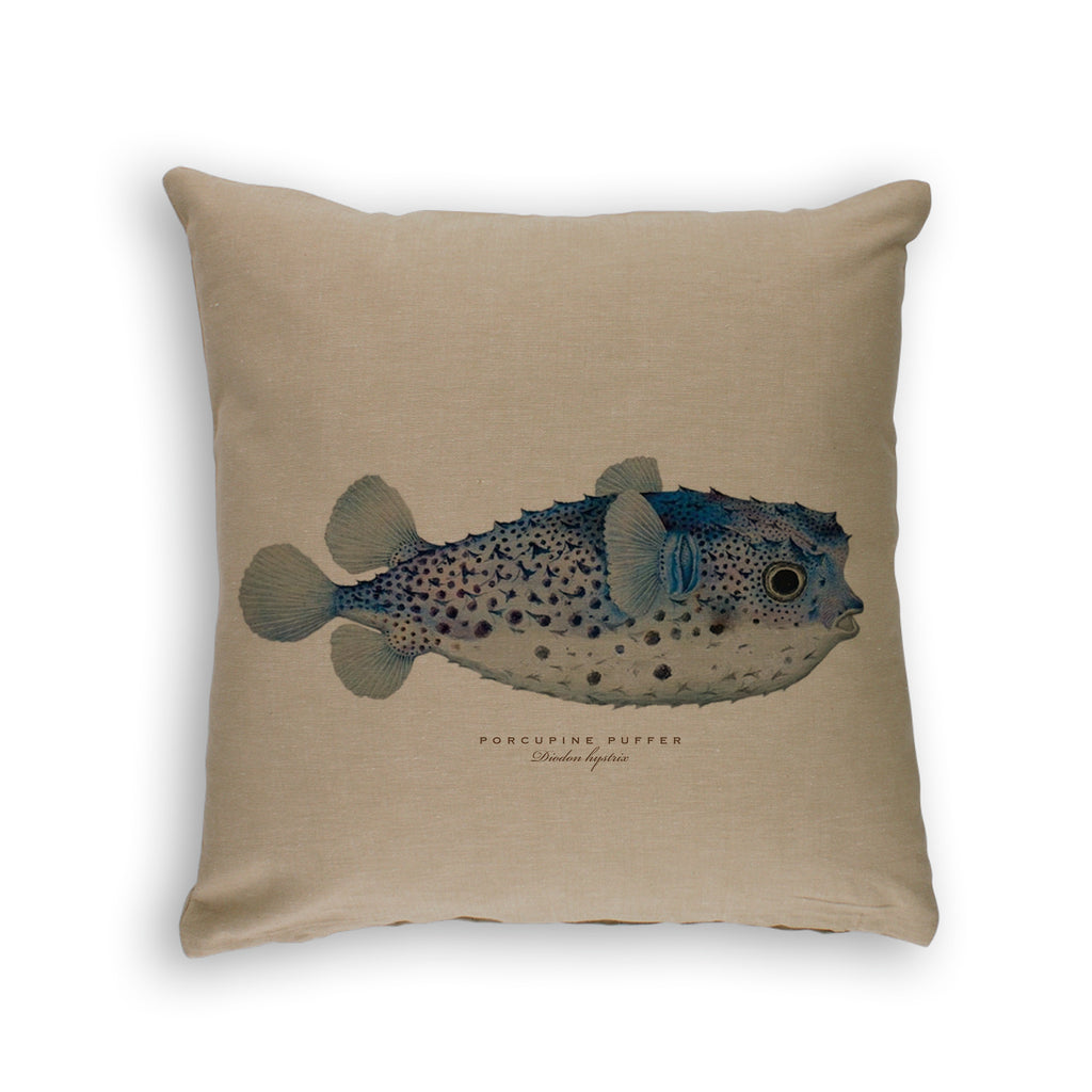 BAUDIN'S FISH -ORGANIC COTTON CUSHION COVER