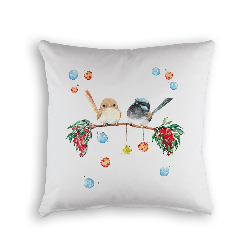 CHRISTMAS JOY CUSHION COVER -WHITE ORGANIC COTTON
