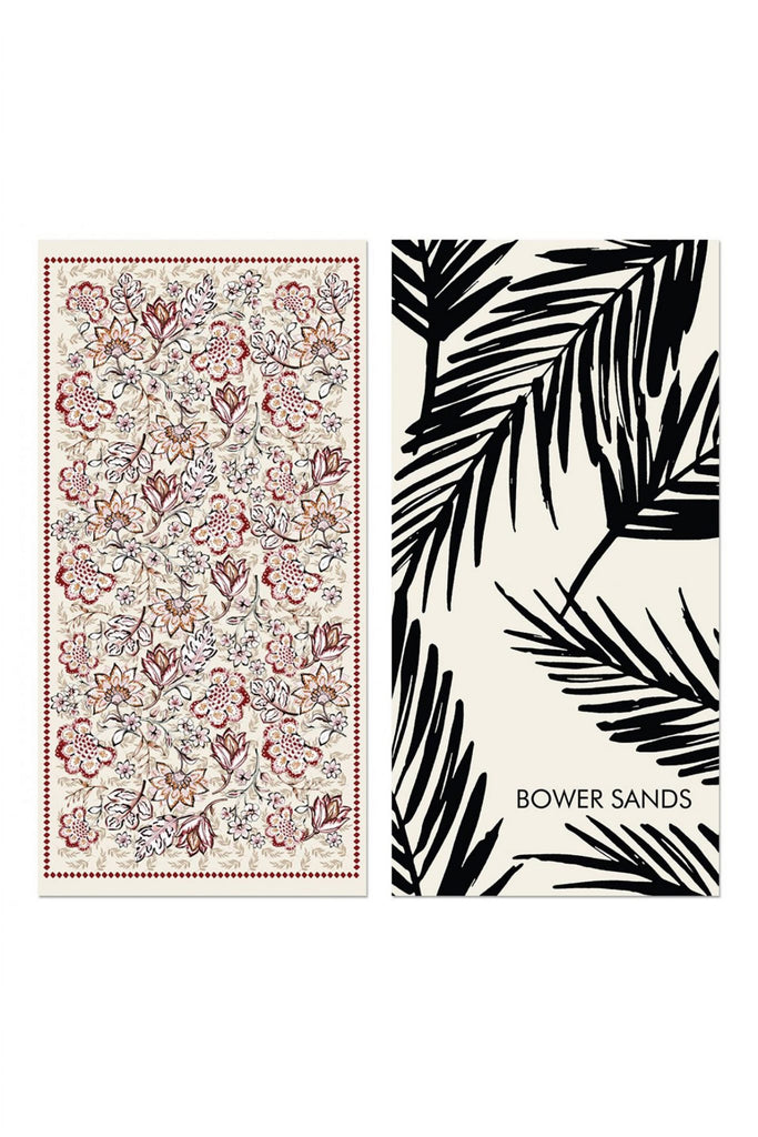 FOLK FLORAL BEACH TOWEL - SINGLE