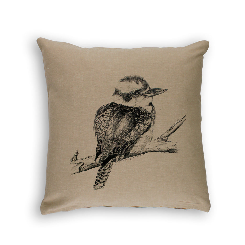 LAUGHING KOOKABURRA -ORGANIC COTTON CUSHION COVER