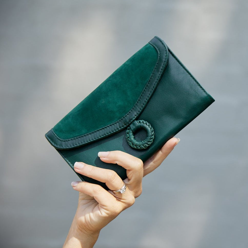 COCO LEATHER WALLET - FOREST