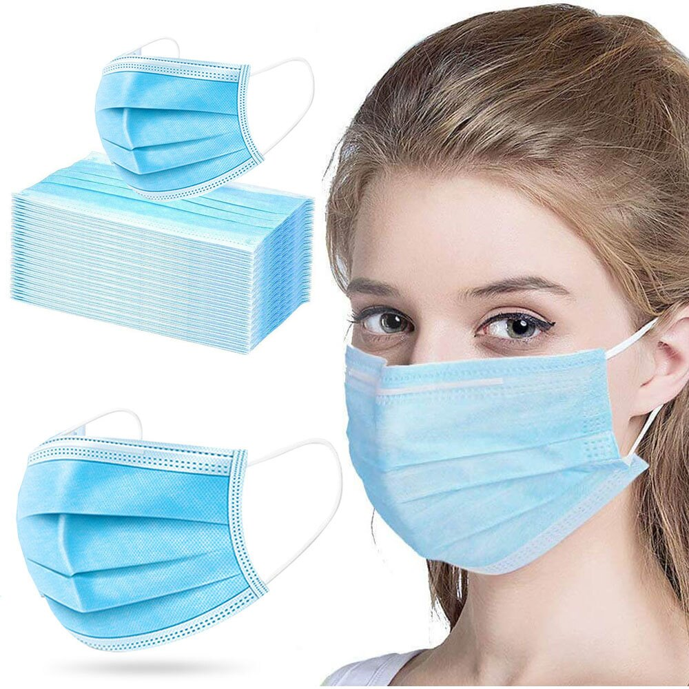Face Mask, Breathable (Pack of 50 Masks)