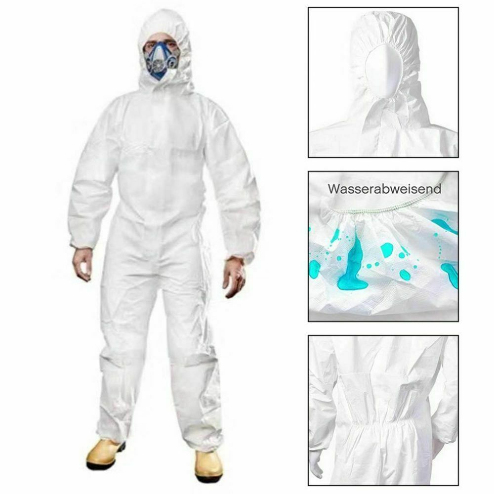 Protective Disposable Isolation Suits- White