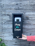 """Happy Camper"" SanBox: Hand Sanitizer Cover"